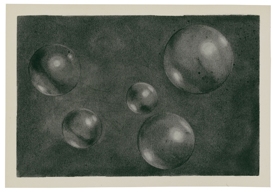 Komposition (Die freie Ordnung) 2011 charcoal on paper 24,5 x 35,5 cm
