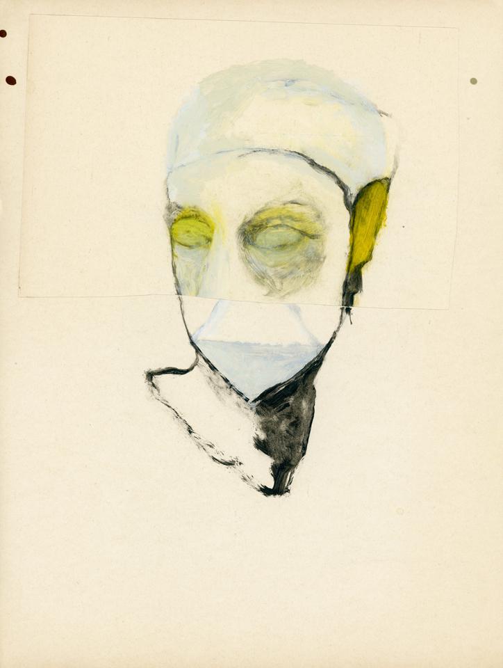 Study (head) 2012 oil on paper 29 x 22 cm