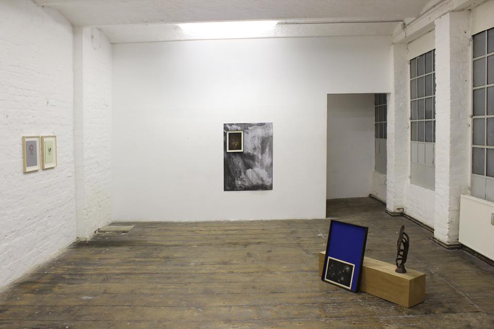 installation view Max Ruf & Lukas Schmenger: Wachstumsrythmus und Bewegung Ringstube, Mainz